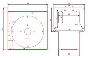 Wymiary wentylator do pieca co RMS 120 K