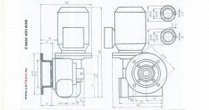 Wymiar mocowania motoreduktora MS-03