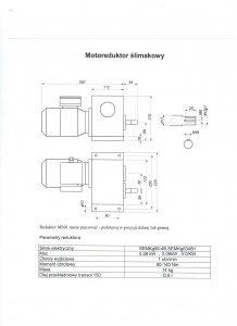 Wymiary motoreduktora do podajnika tłokowego w piecu c.o. MS-01